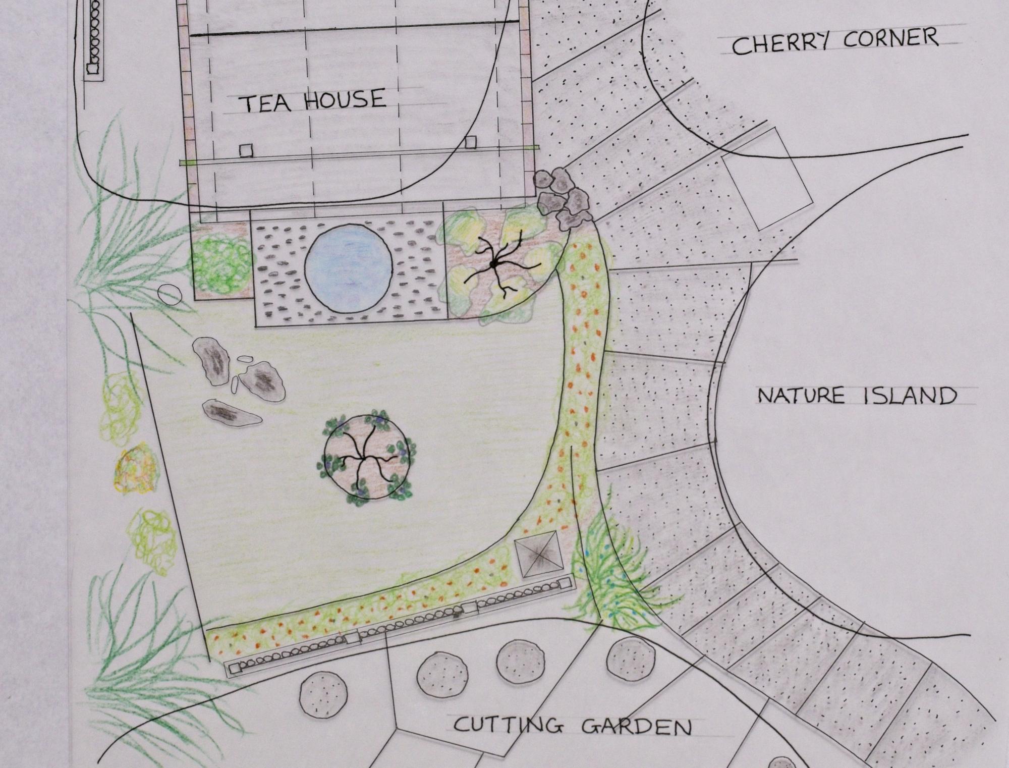 Contemplation Garden planting plan