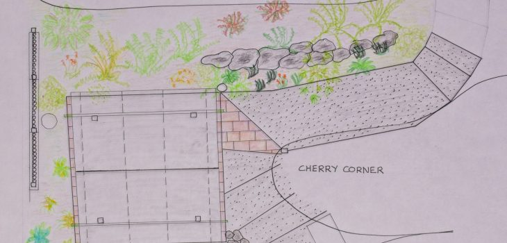 Tea house planting plan