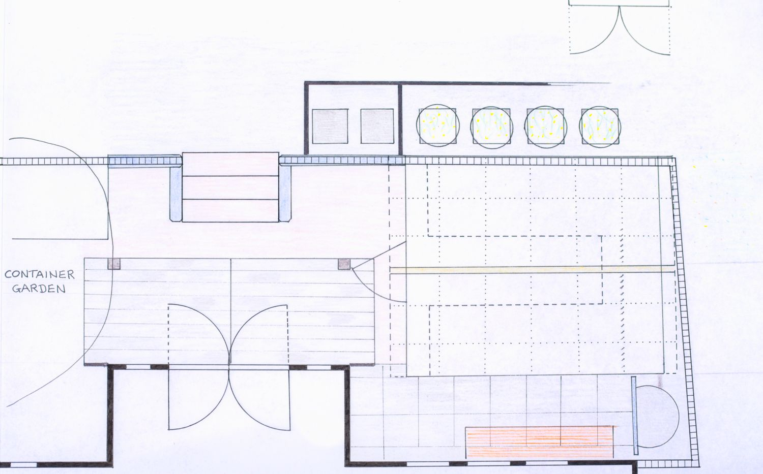 New plan for house frontage and greenhouse