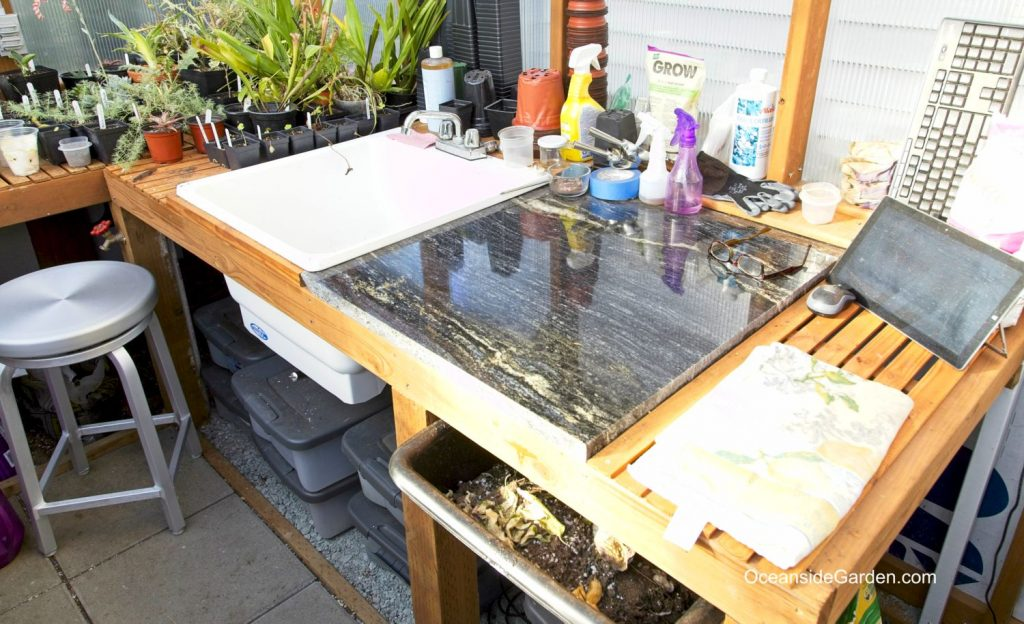 Workbench in the greenhouse